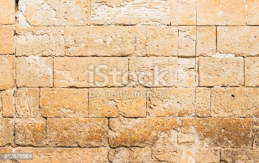 Vintage grunge stone wall background texture, close-up