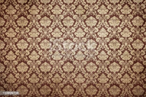 istock Grunge ornate wallpaper 153899236