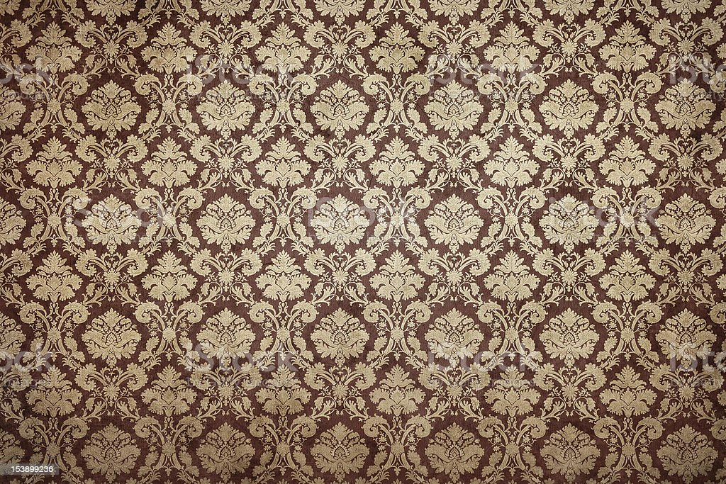 Grunge ornate wallpaper stock photo