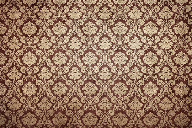 grunge ornate wallpaper - baroque stock photos and pictures