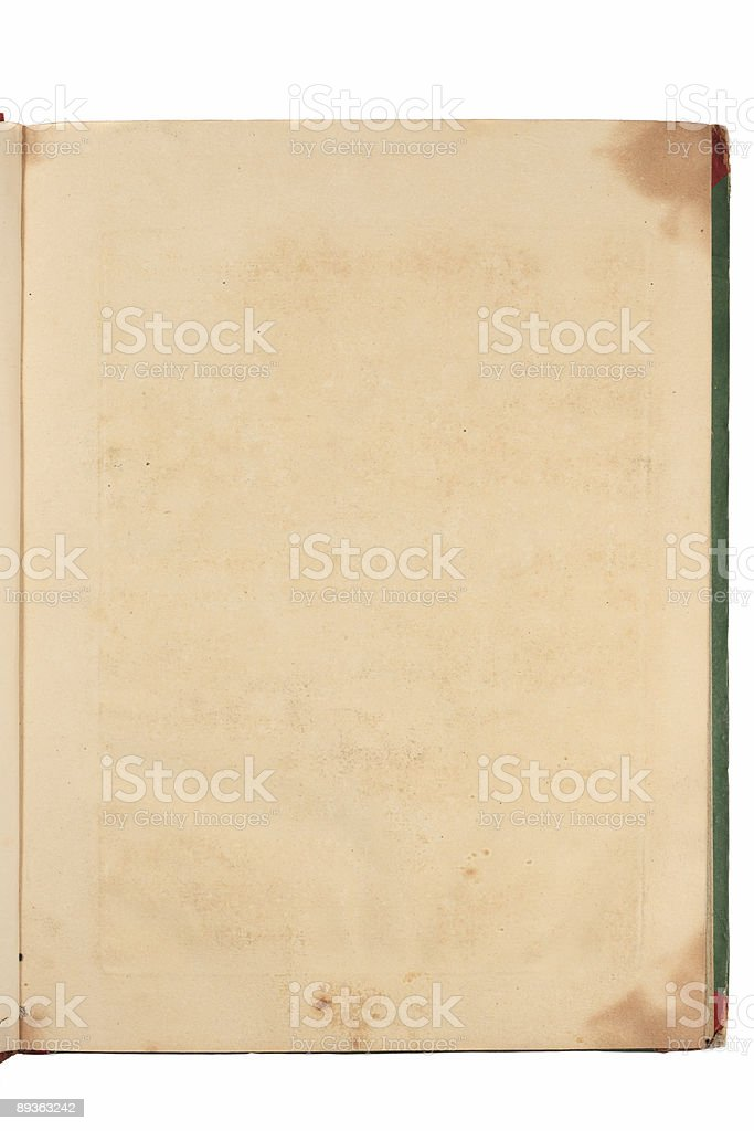 Grunge page of old book royalty-free stock photo
