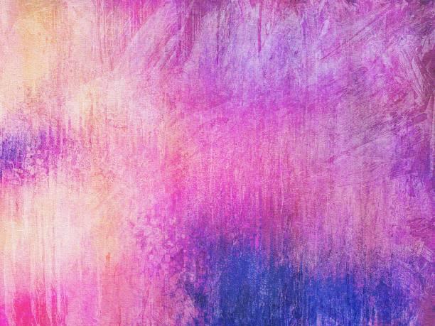 grunge gemalten hintergrund mit rosa, blau, orange - ölgemälde modern stock-fotos und bilder