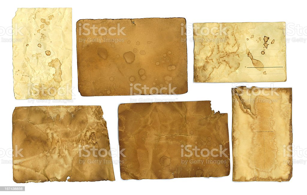 Grunge Paper and Post Cards royalty-free stock photo
