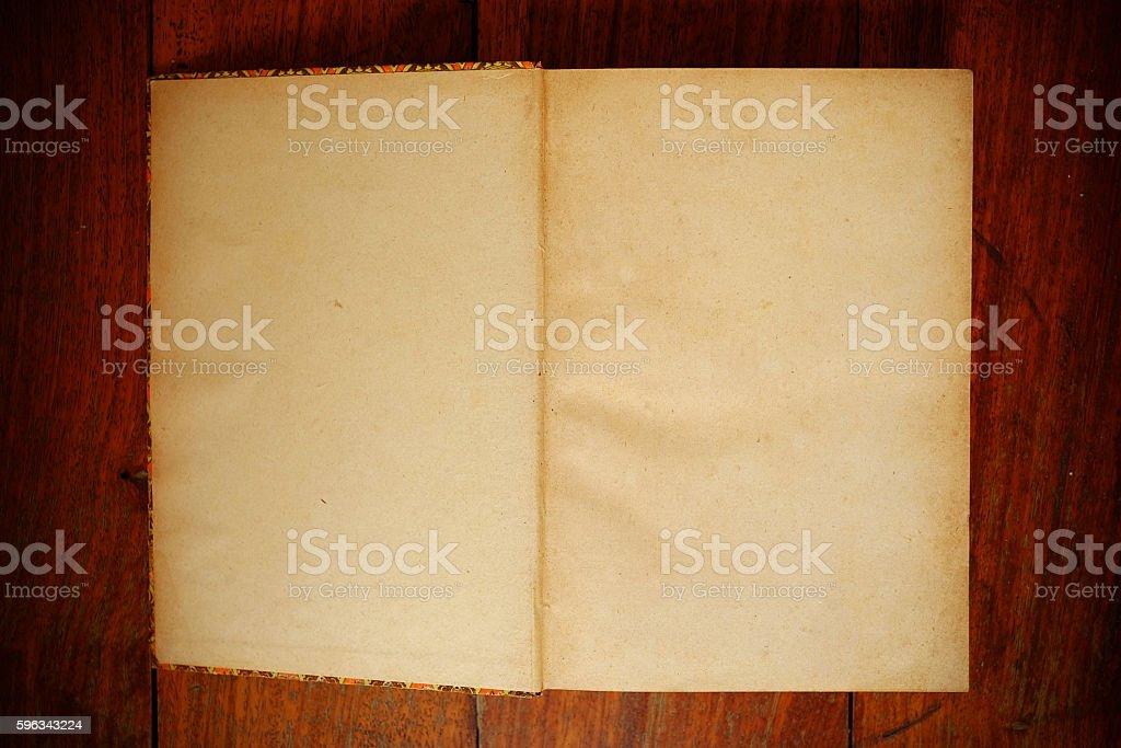 Grunge paper book on table Lizenzfreies stock-foto