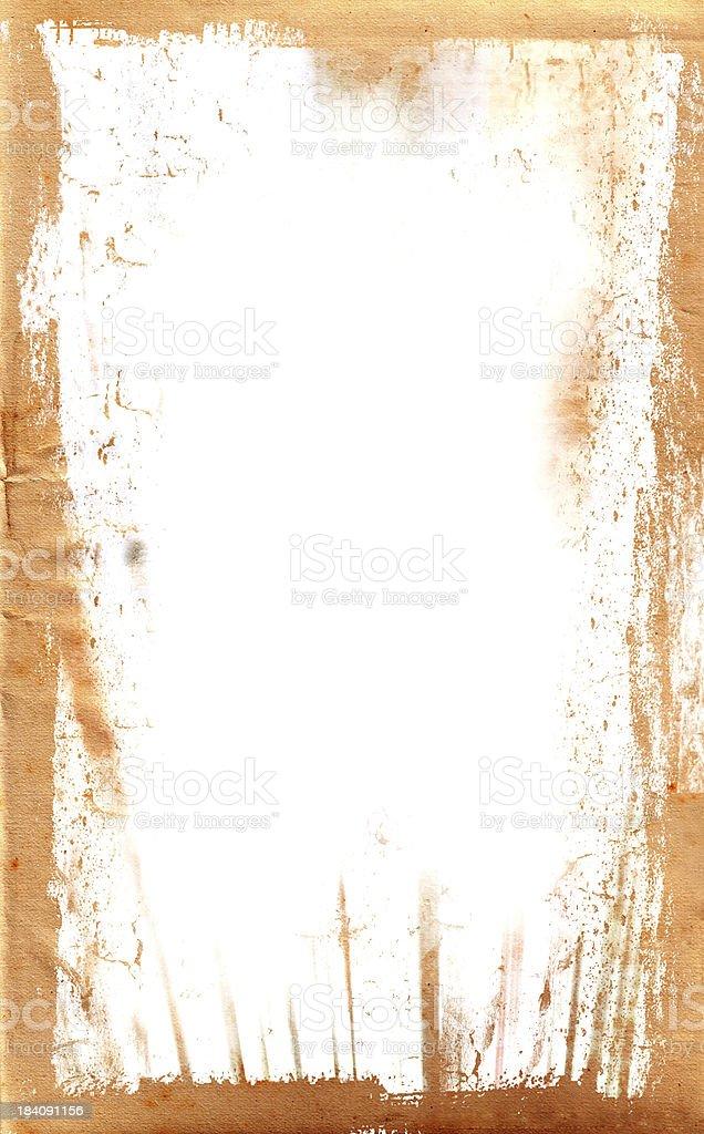 Grunge Paper Border royalty-free stock photo