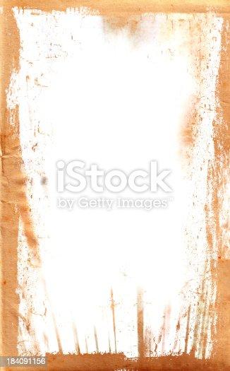 A grungy vintage paper / parchment frame