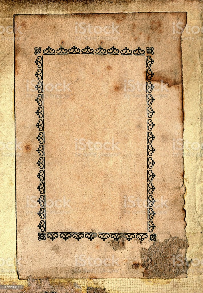 Grunge paper frame stock photo