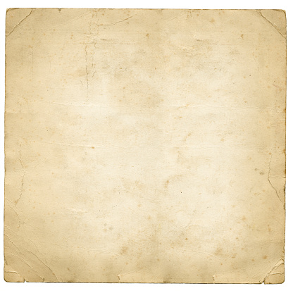 An old peice of square paper