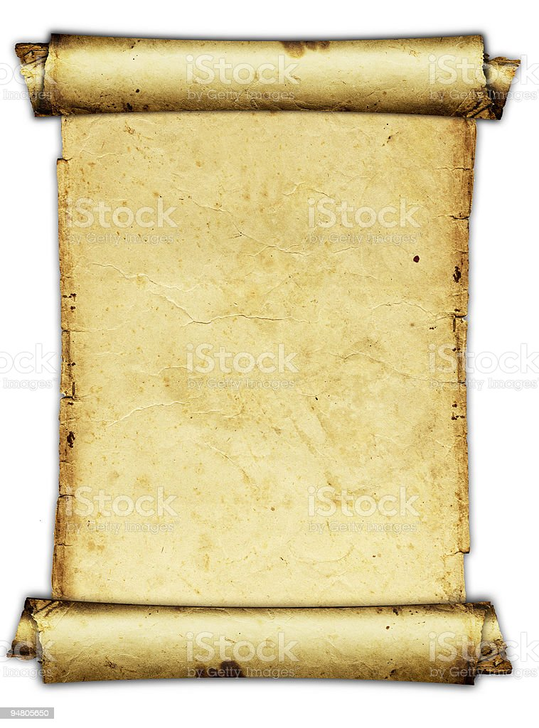 grunge paper roll stock photo