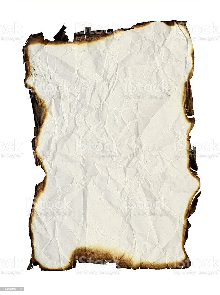 grunge paper with burned edges royalty-free stock photo