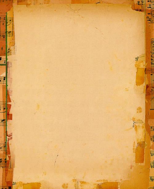 grunge papiere hintergrund rahmen - kollagenblätter stock-fotos und bilder