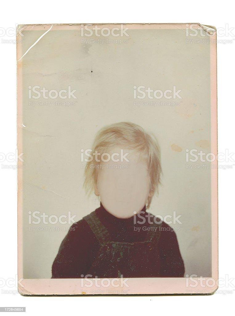Grunge Photo Frame - Bad Hair Day stock photo