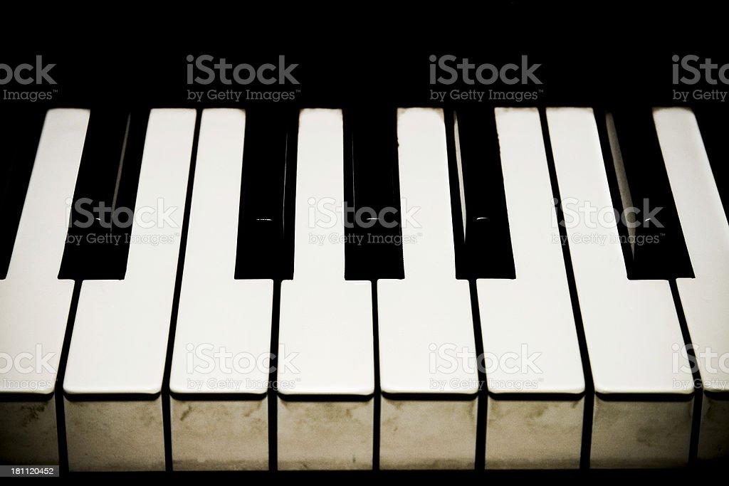 Grunge piano royalty-free stock photo