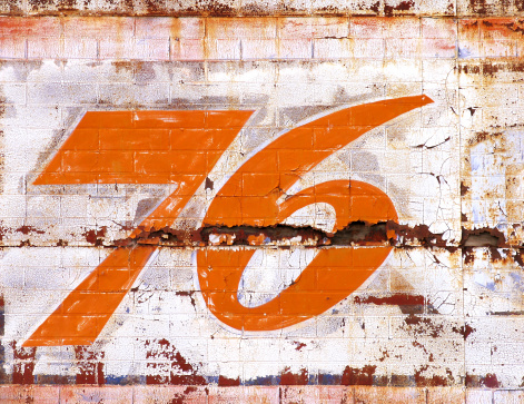 A painted '76 sign