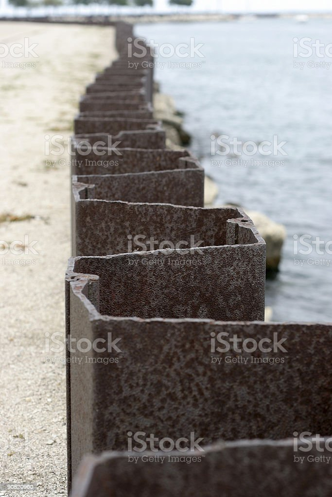 Grunge Pier royalty-free stock photo