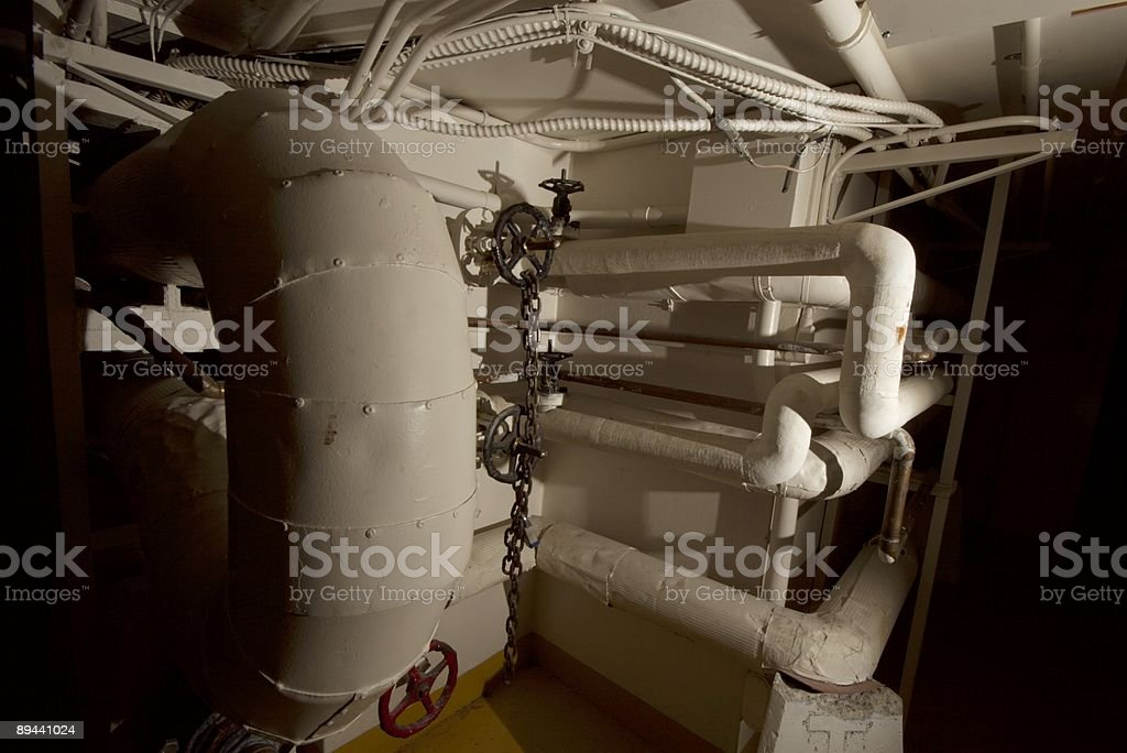 Grunge pipes royalty-free stock photo