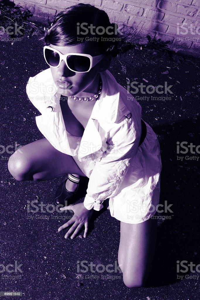 Grunge portrait 4 stock photo