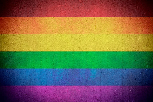 grunge rainbow flag - flag background stock photos and pictures