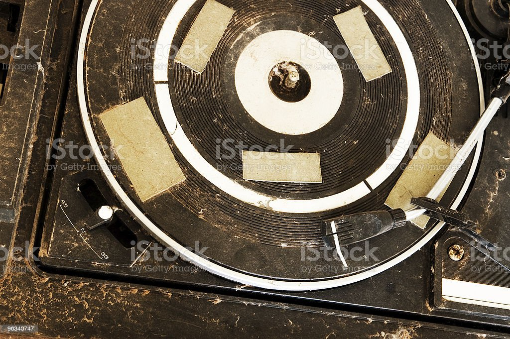Grunge Record Player royalty-free stock photo