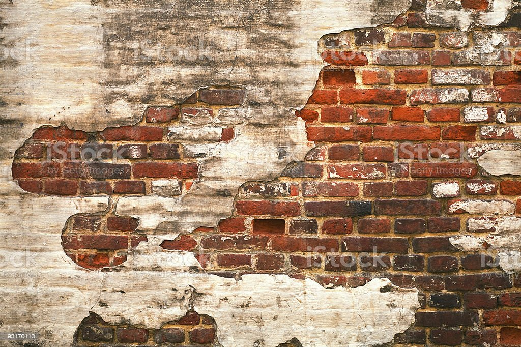 Grunge red brick wall texture royalty-free stock photo