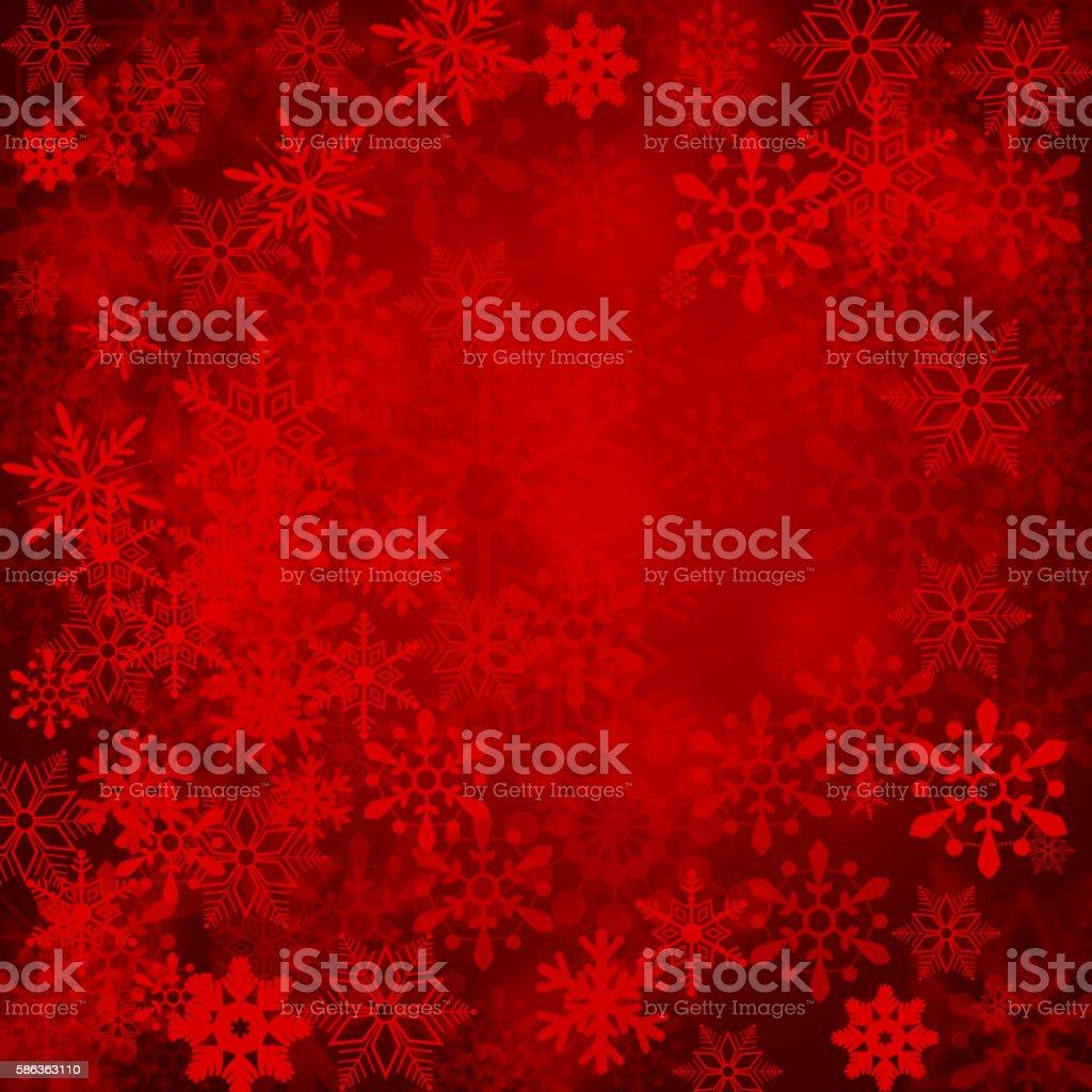 Grunge red snowy background stock photo