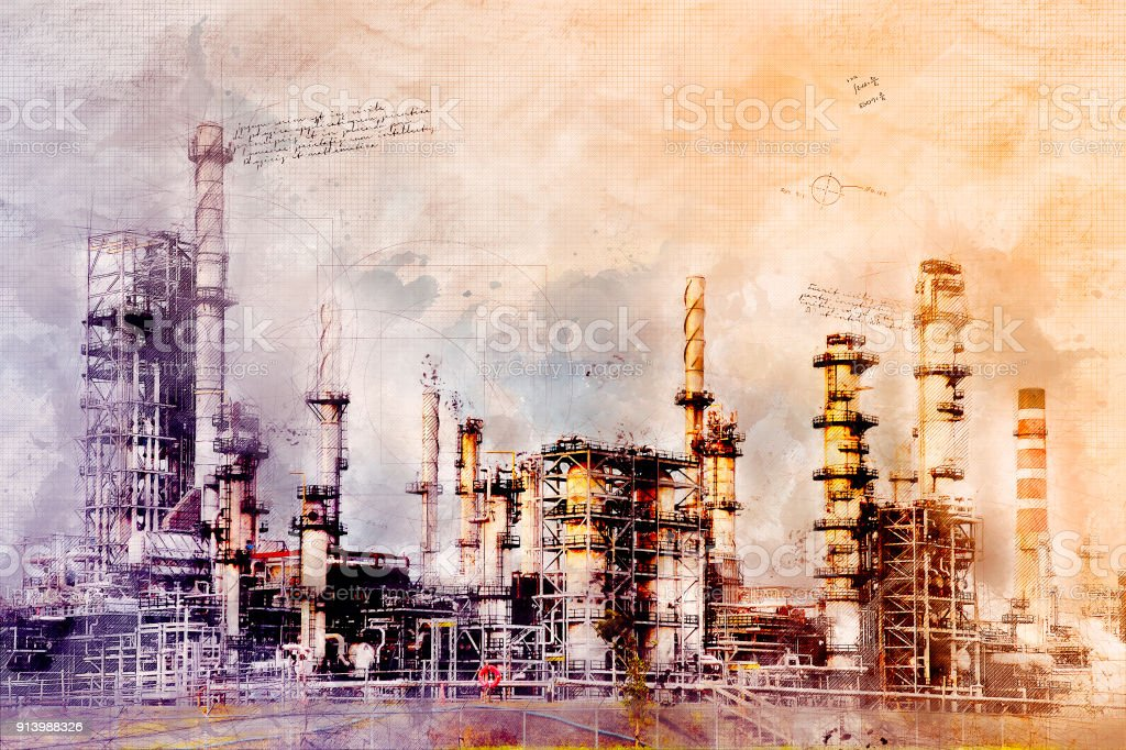 Grunge Refinery Image stock photo