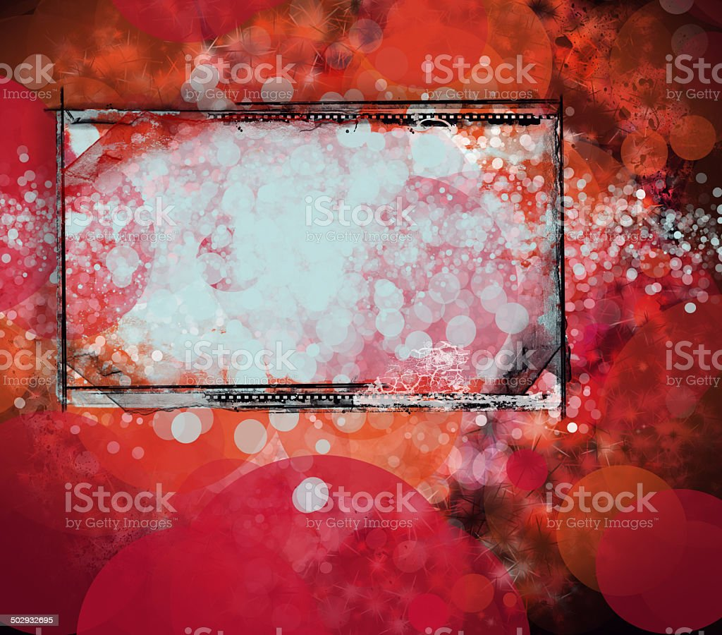 Grunge retro style frame for your projects stock photo
