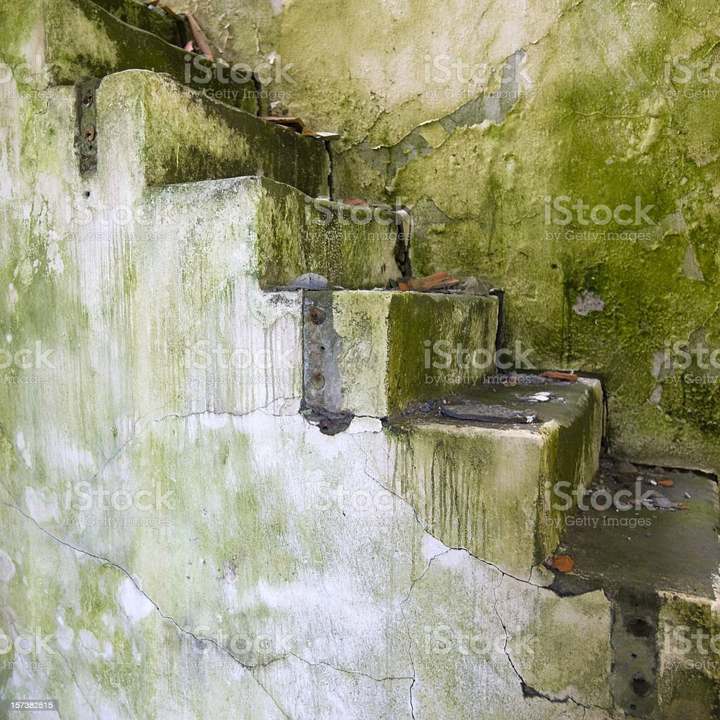 Grunge Rotten Stairway royalty-free stock photo