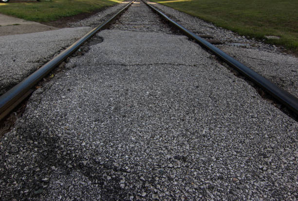 Grunge Rural Railroad Tracks stock photo