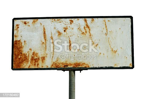 Blank, isolated, metal sign. With PATH