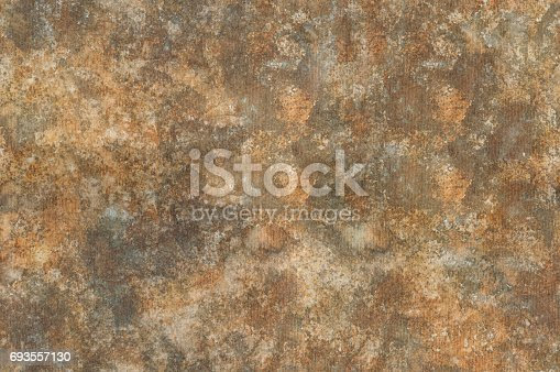 istock Grunge rusty background, watercolor illustration 693557130