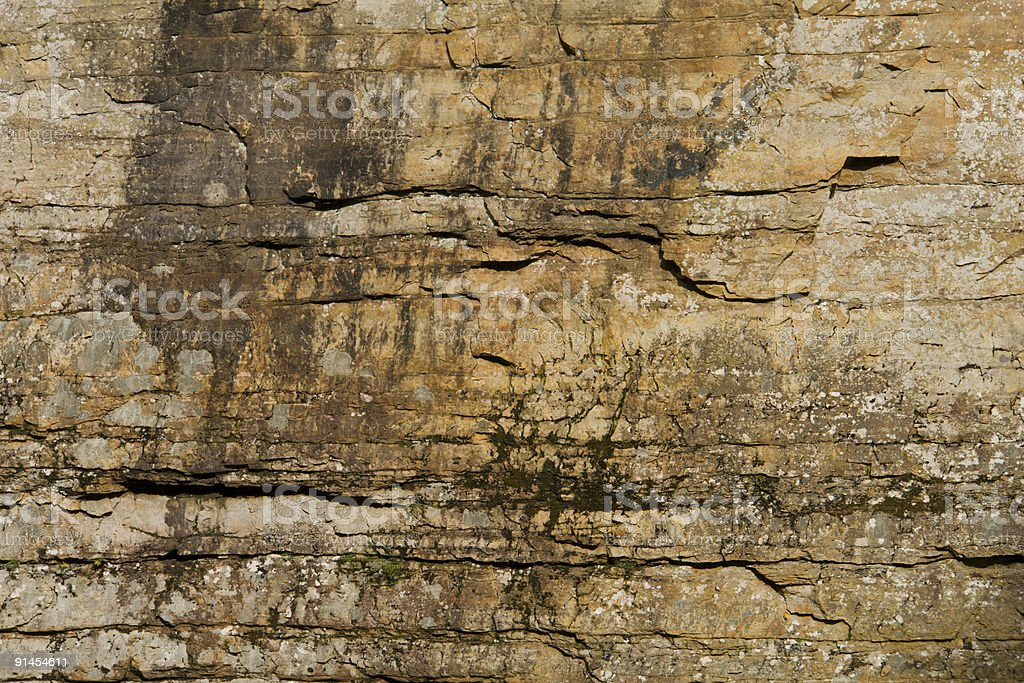 Grunge Sandstone Wall stock photo