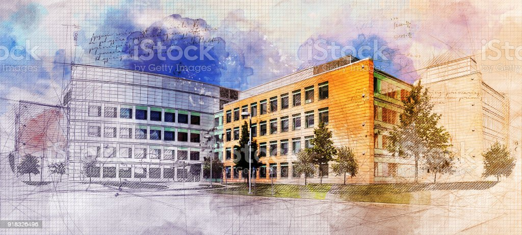 Grunge School stock photo