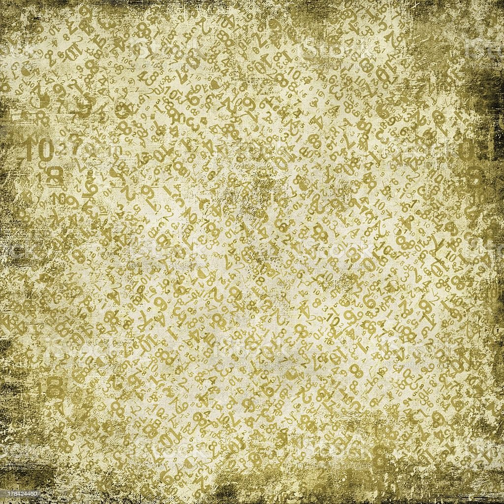 Grunge sepia abstract background with numbers royalty-free stock photo