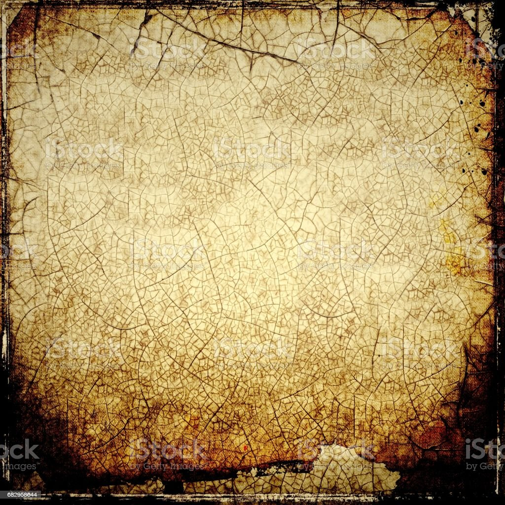 Grunge sepia cracked texture background. stock photo