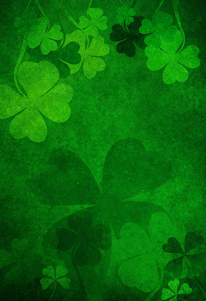 grunge shamrock background - st patricks day background stock photos and pictures