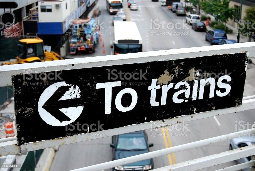 Grunge Sign, Chicago Elevated Railway stock photo