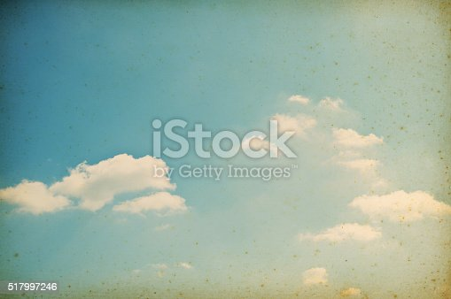 Grunge Image of Sun and Clouds