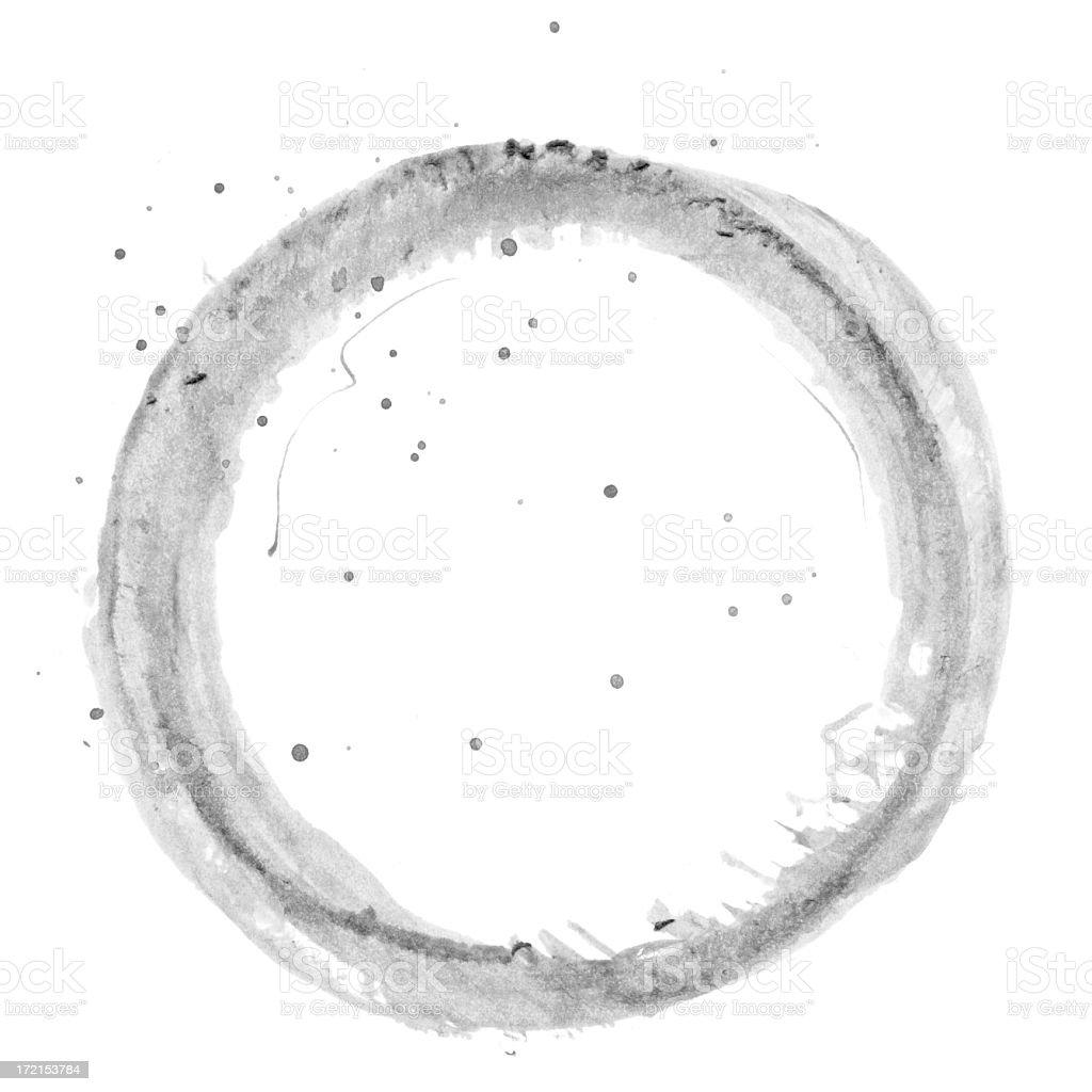 grunge smeared circles royalty-free stock photo