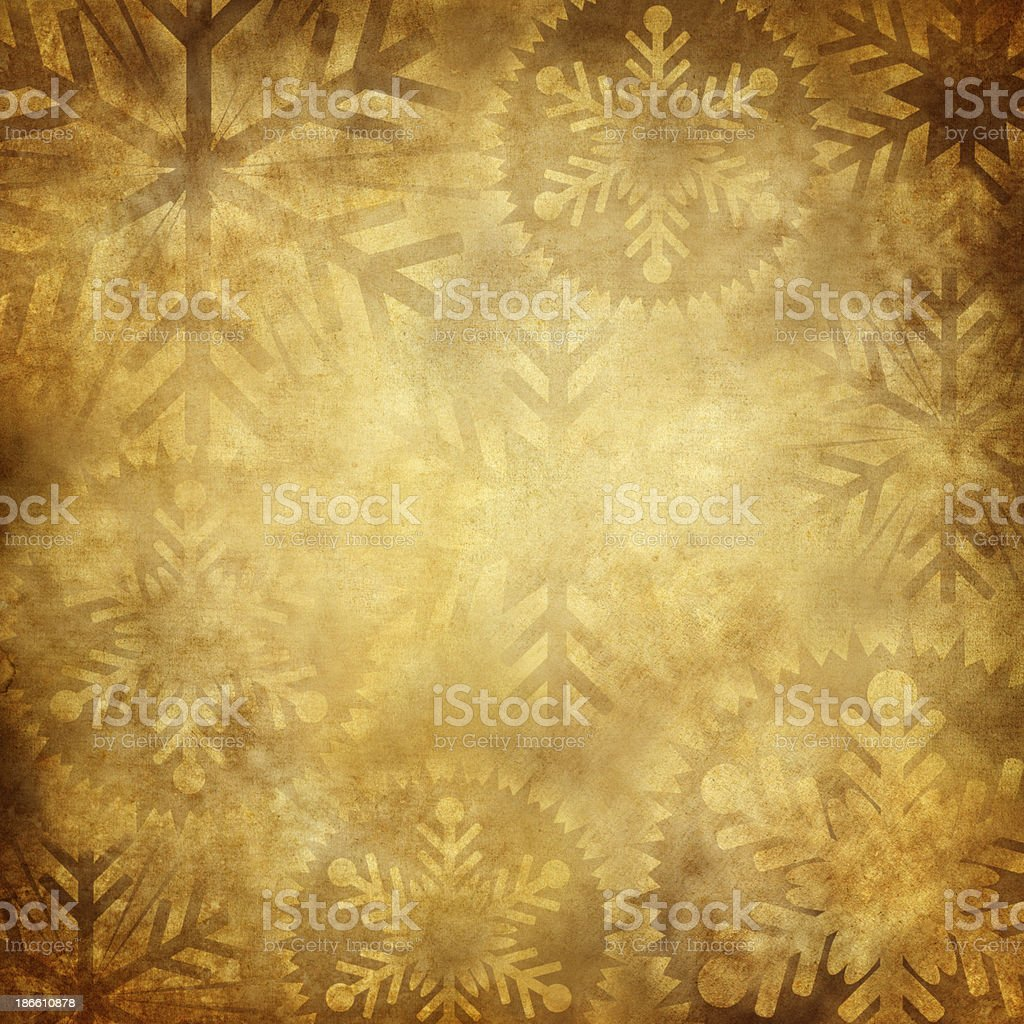 Grunge Snowflake Background royalty-free stock photo