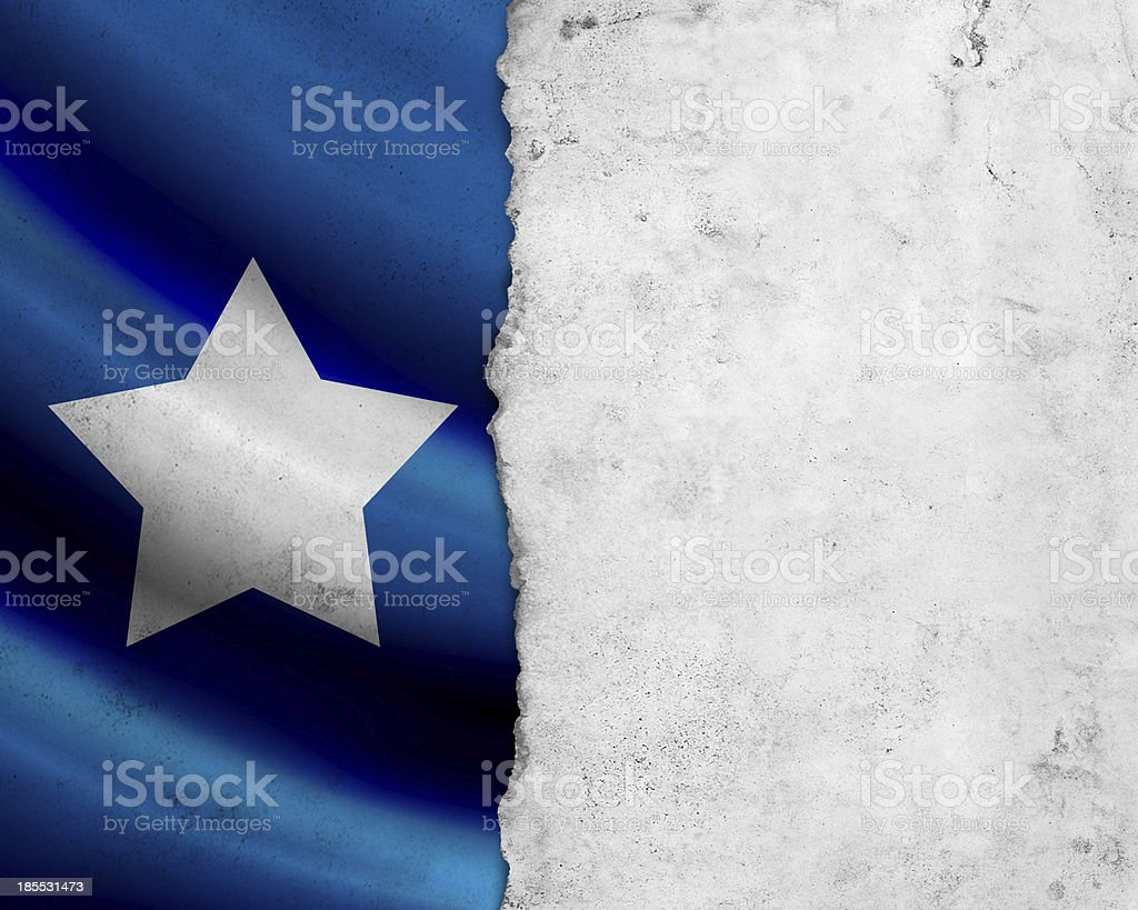 Grunge Somalia flag stock photo
