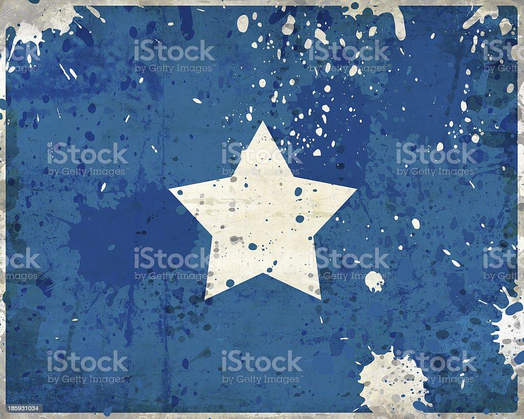 Grunge Somalia flag with stains stock photo