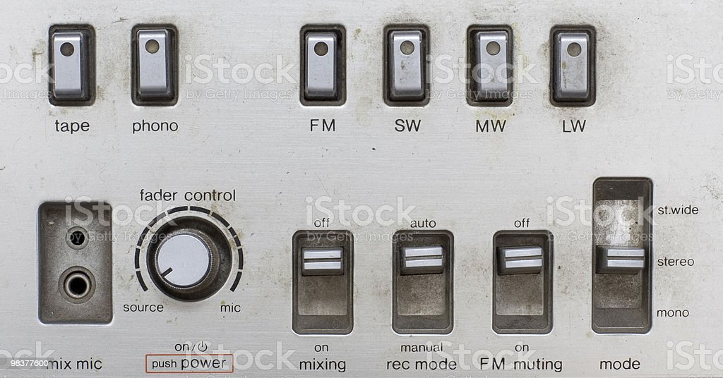 grunge sound mixer console royalty-free stock photo
