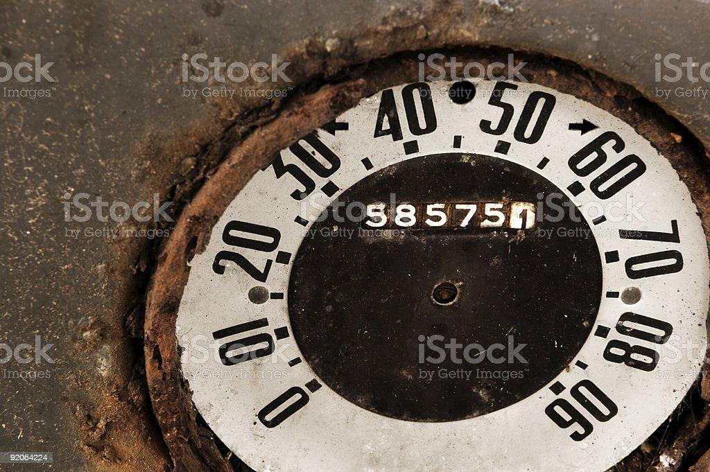 Grunge Speedometer royalty-free stock photo