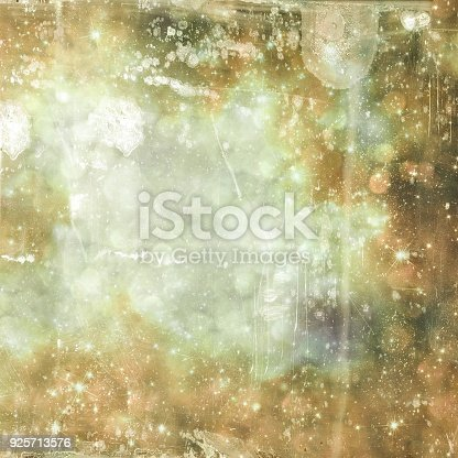 istock Grunge square texture background with bokeh and drip. Gray and sepia tones. 925713576