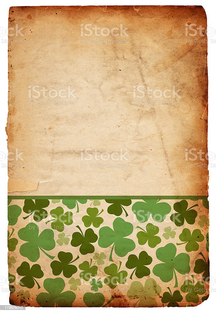 Grunge St. Patrick's Day Background Paper XXXL royalty-free stock photo