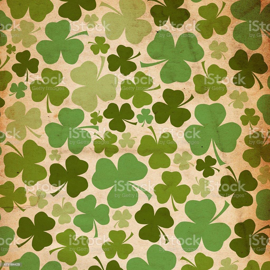 Grunge St. Patrick's Day Background Paper XXXL royalty-free stock photo