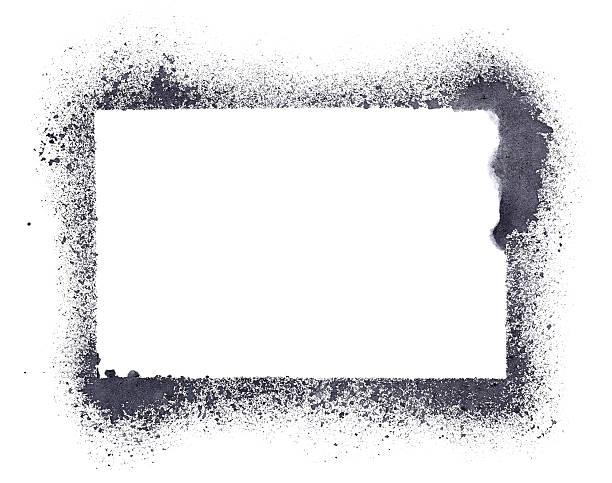 Grunge stencil frame stock photo