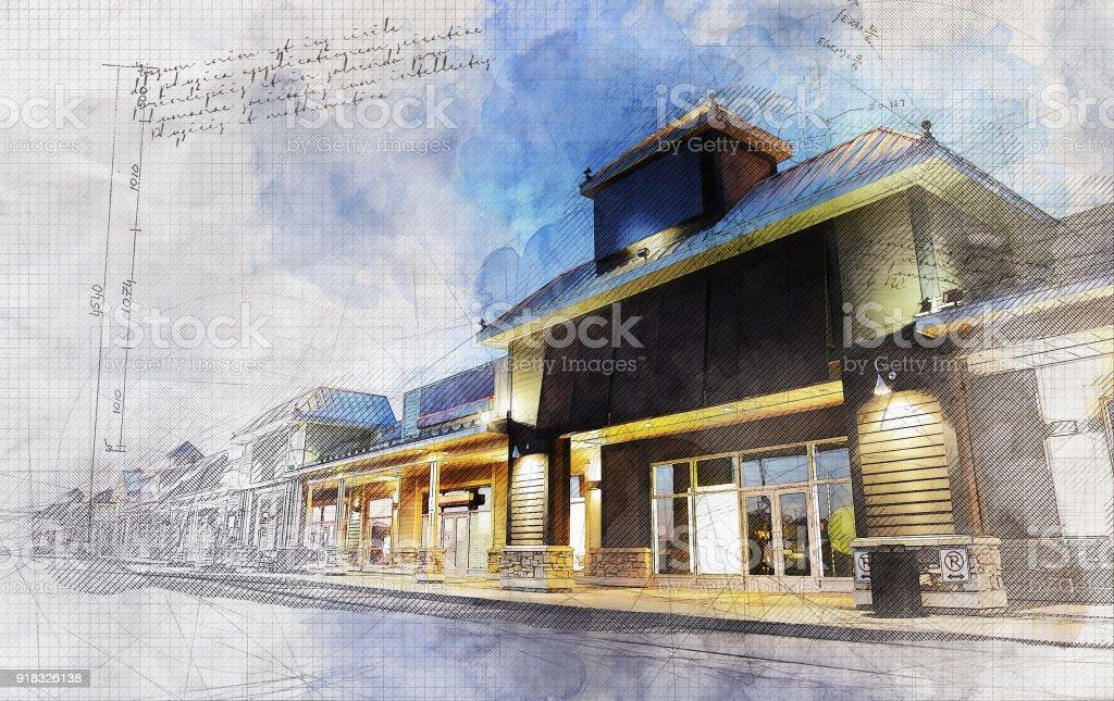 Grunge Store Entrance stock photo