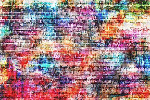 Grunge style colorful background Highly detailed wall painting image, ideal for all decorative works, grunge style designs street art stock pictures, royalty-free photos & images